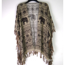 Ladies Elephant Printing Wrap